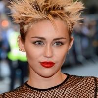Miley Cyrus Short Spiked Punk Haircut