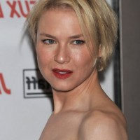 Renee Zellweger Short Straight Graduated Bob Haircut for Round Faces