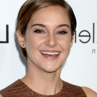 Shailene Woodley Short Side Parted Straight Haircut for Women