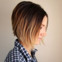 Short Ombre Inverted Bob Haircut for Women
