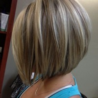Side View of Inverted Bob Hairstyle for Girls