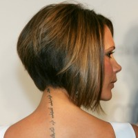 Side View of Victoria Beckham Inverted Bob Haircut