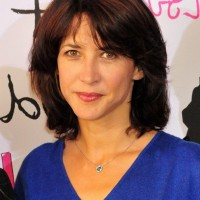Sophie Marceau Layered Graduated Bob Hairstyle for Thick Hair