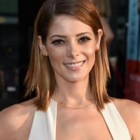 Ashley Greene Medium Layered Straight Haircut for Women