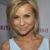 Chelsea Kane Short Layered Razor Hairstyle for Oval Faces