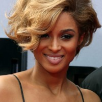 Ciara Sexy Short Wavy Hairstyle for Women