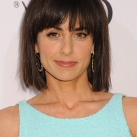 Constance Zimmer Short Blunt Bob Haircut with Blunt Bangs