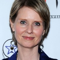 Cynthia Nixon Short Side Parted Haircut for Women Over 60