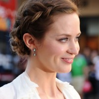 Emily Blunt French Braid