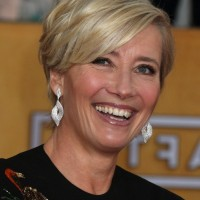 Emma Thompson Layered Razor Cut with Bangs for Women Over 50