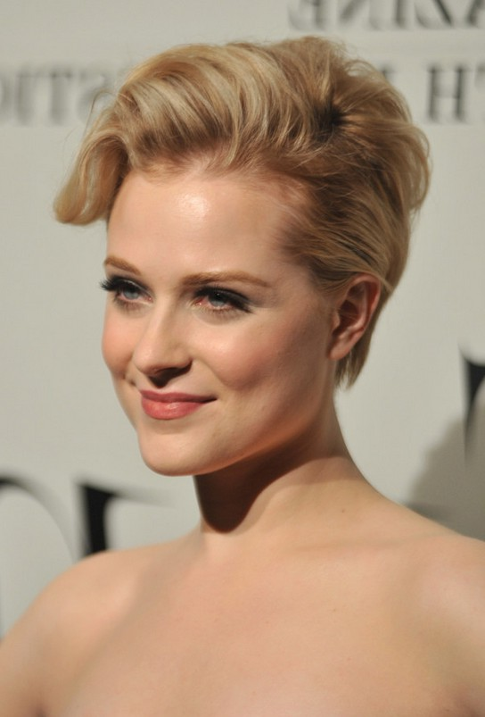 Evan Rachel Wood Elegant Short Layered Razor Cut