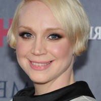 Gwendoline Christie Short Blonde Side Parted Haircut