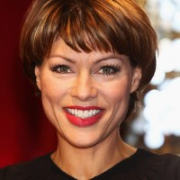 Kate Silverton Short Haircut with Bangs for Women Over 40