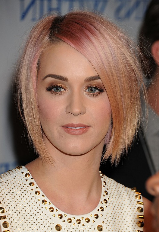 Katy Perry Layered Short Straight Pink Razor Cut