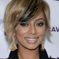 Keri Hilson Layered Short Side Parted Haircut with Bangs