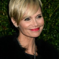 Kristin Chenoweth Short Straight Hairstyle with Side Swept Bangs