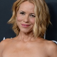 Maria Bello Short Tousled Wavy Curly Hairstyle for Women