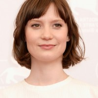 Mia Wasikowska Simple Easy Short Hairstyle with Wispy Bangs