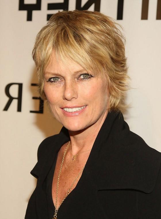 Patti Hansen Short Layered Razor Hairstyle for Women Over 50