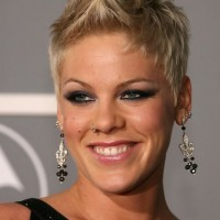 Pink Cool Spiked Short Fauxhawk Haircut for Girls