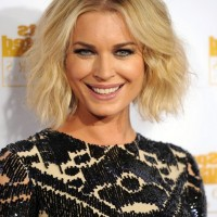 Rebecca Romijn Tousled Center Parting Wavy Curly Hairstyle