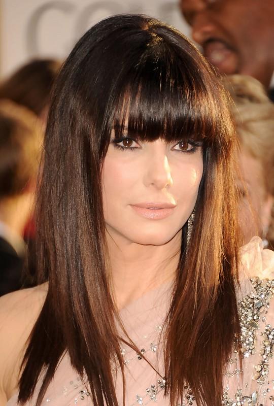 Sandra Bullock Straight Hairstyles