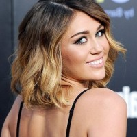 Miley Cyrus Short Ombre Hair for Summer