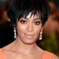 Solange Knowles Layered Black Razor Cut for Black Women