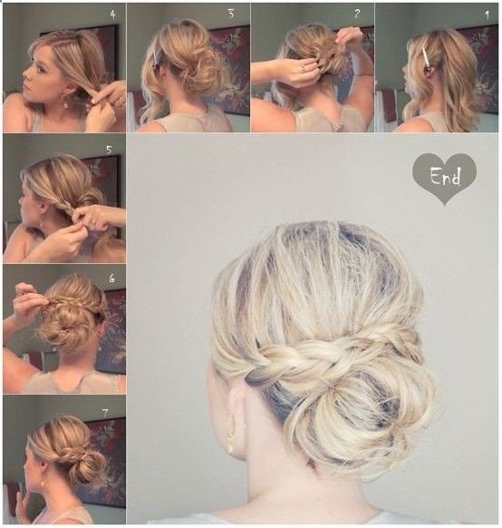 Elegant Low Bun with Braided Hairstyle
