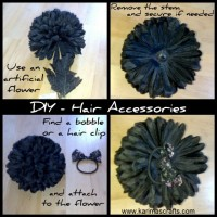 Pretty DIY Hair Accessory Tutorial