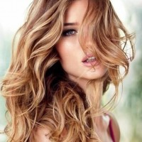 Romantic Blonde Highlighted Hairstyle