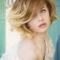 Ombre Short Wavy Hairstyle