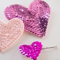 Pretty DIY Heart Bobby Pins