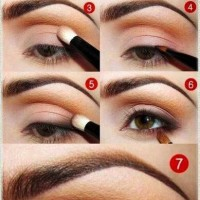 Pretty Orange Eye Makeup with Curly Lashes