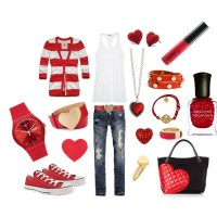 Red Outfit Idea for Valentine's Day