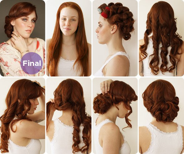 Vintage Curly Hairstyle Tutorial