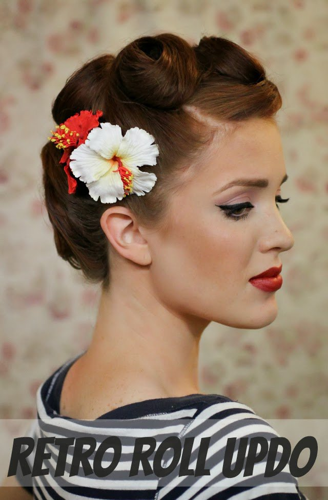 Pretty Vintage Updo Hairstyle