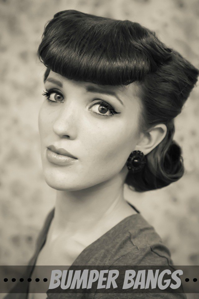 Elegant Retro Hairstyle with Bumper Bangs