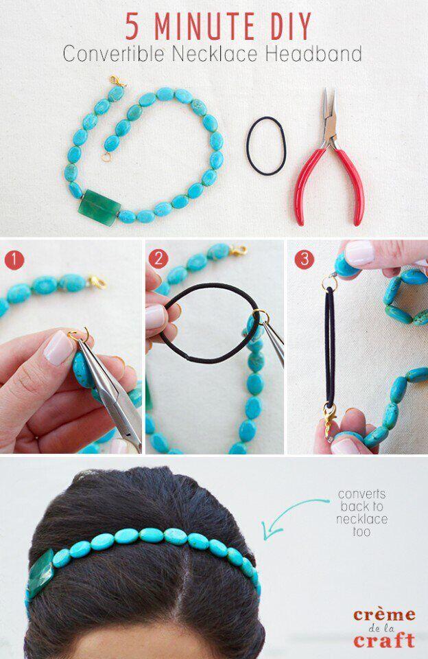 DIY Convertible Necklace Headband