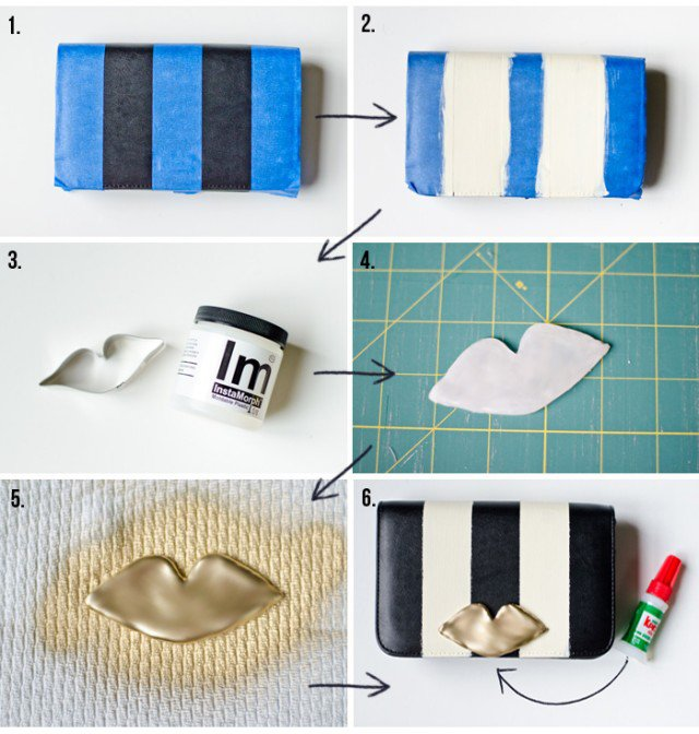 DIY Stripe Clutch Idea
