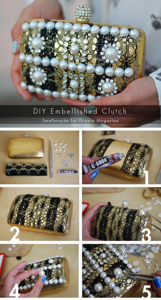 DIY Pearl Embellished Idea