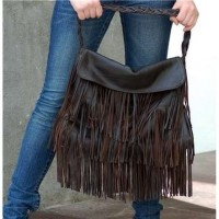 A fringe purse