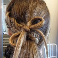 Fishtail with a bow