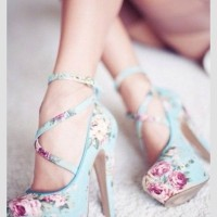 Floral strappy lace ups