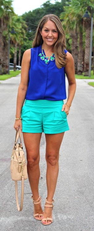 Pair a bold color with a neutral one