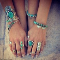 Turquoise pieces
