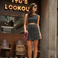 Fashionable Checkered Outfit