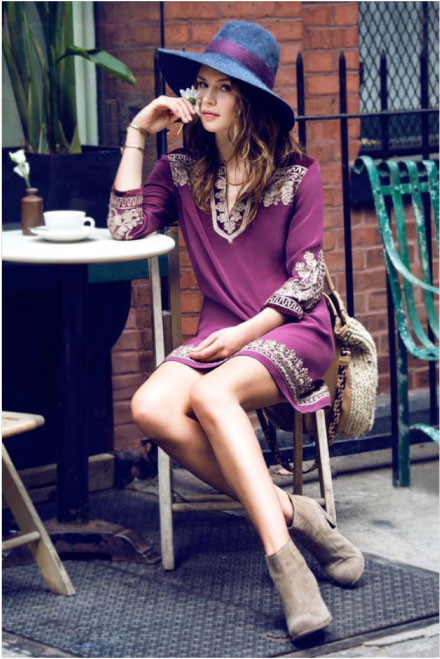 Floppy hat with tunic