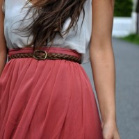 Maxi skirt and tank top