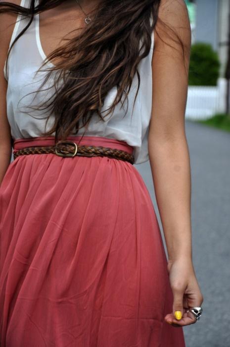 Maxi skirt and tank top
